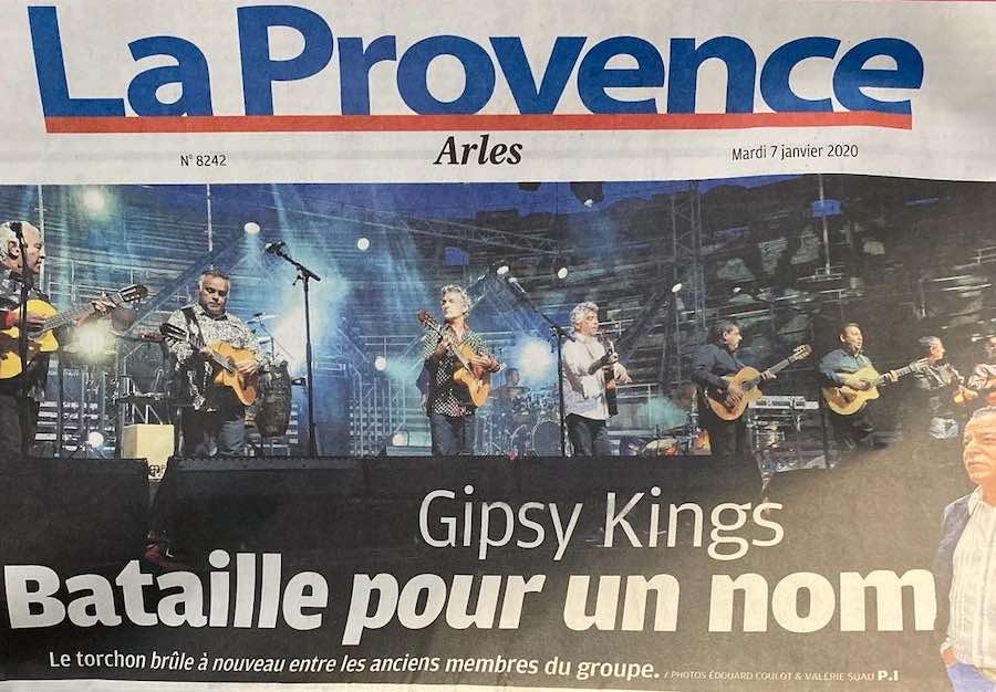 Gipsy Kingsの名前訴訟に関する新聞記事